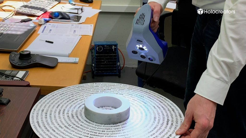 3D-scanning a ring gauge using the Artec Space Spider