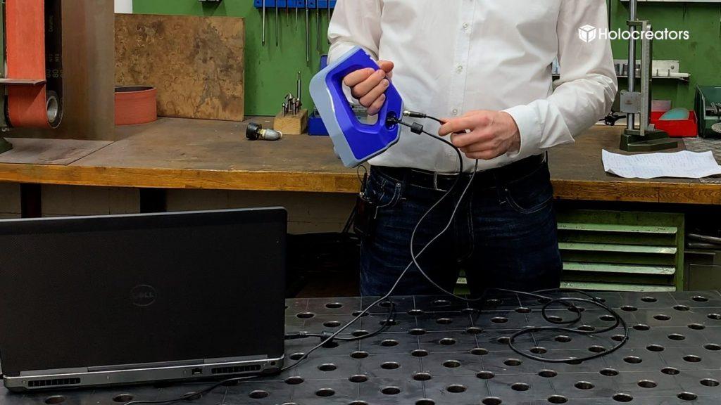 Die Abweichungsanalyse zeigt die Unterschiede des 3D-Scans des Einstellrings mit dem ursprünglichen CAD-Modell im Vergleich.