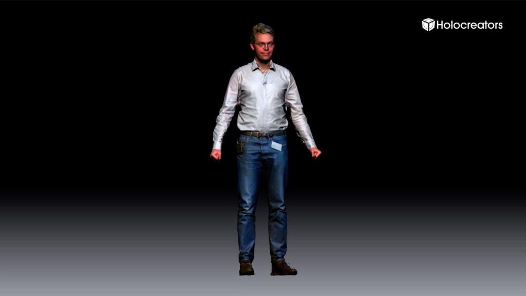 Die Darstellung zeigt einen 3D-Farbscan von Swann Rack.