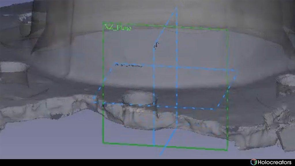 Mit der auf dem Bild gezeigten Schaltfläche kann die XZ-Ebene in FreeCAD ausgewählt werden.