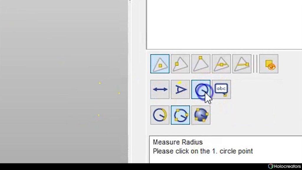 Measure radius button in Netfabb