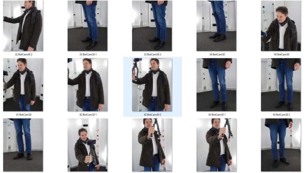 Pictures of Swann Rack for photogrammetry inside a botspot opta 1 3D scanner