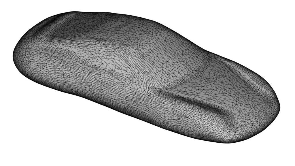 Der 3D-Scan zeigt ein Sportwagenmodell.