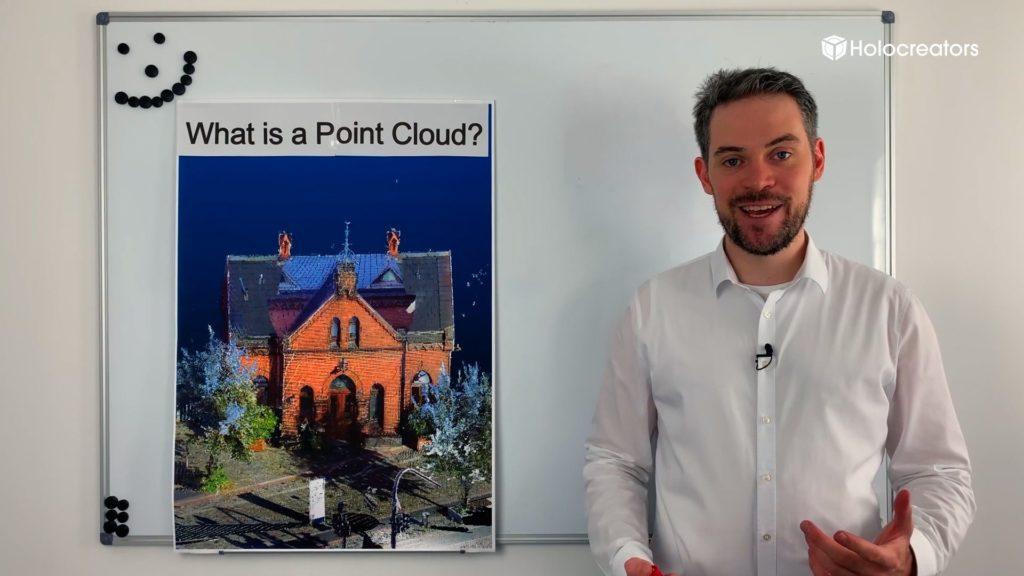 Swann Rack erklärt, was eine Punktwolke ist.