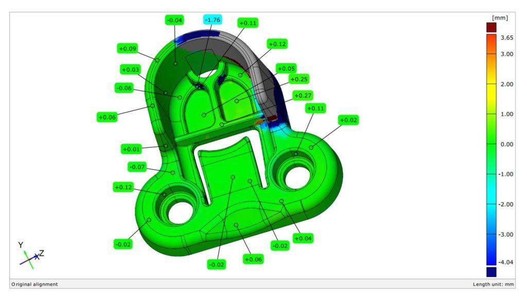 Auf dem EOS-Formiga-3D-Druckersteuerungsbildschirm finden sich alle wichtigen Informationen.
