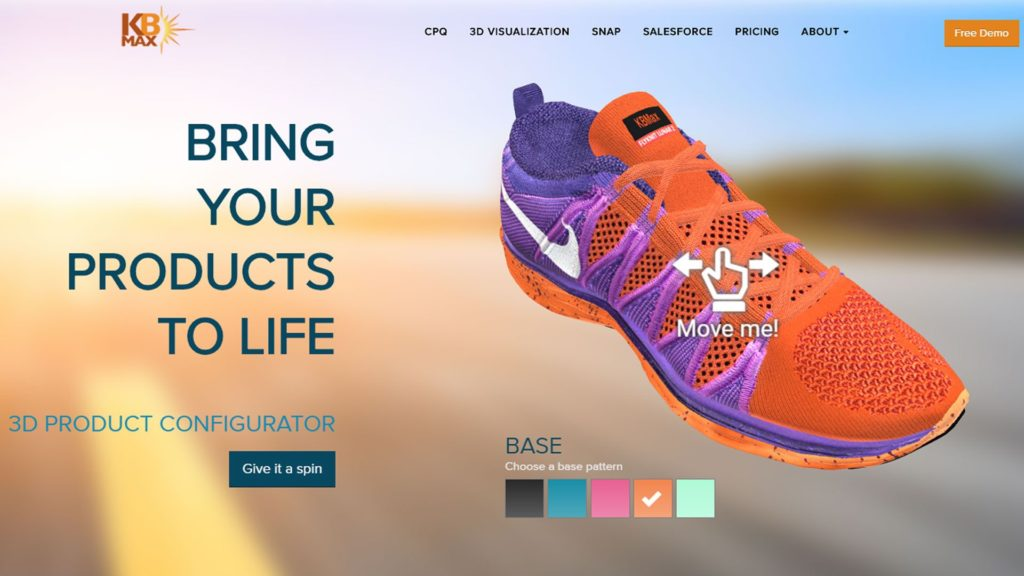 Nike shoe 3D model by KB Max—interior of the 3D product configurator