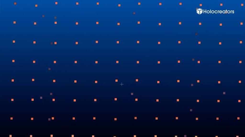 Die Punktwolke weist einen maximalen Zoom auf.