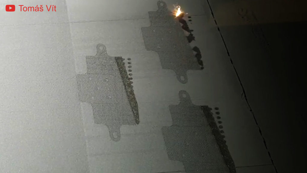 SLM Metal 3D printer laser is melting metal powder